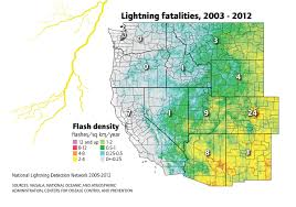Lightning Strikes Map Was The Fatal Thunderstorm In California A Climate Phenomenon