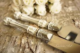 wedding cake knife set rustic wedding cake server set knife cake cutting set wedding