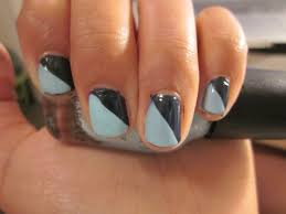 nail design two colors how you can do it at home pictures