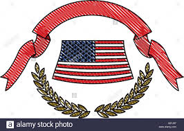 thick ribbon united states flag olive branches with thick ribbon on top