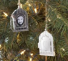 silver plated birdcage locket ornament pottery barn
