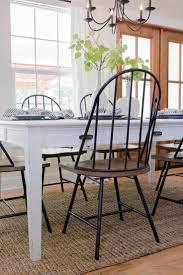 white farmhouse table black chairs furniture best 25 farmhouse chairs with iron chairs and white table