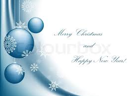 merry and happy new year greeting card with copyspace