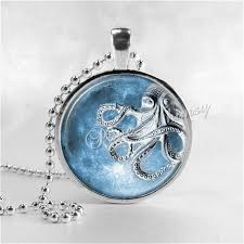 blue moon necklace images Steampunk octopus necklace full moon necklace steam punk octopus jpg