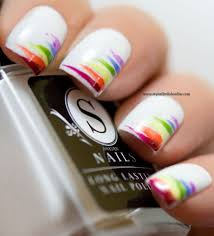 best 20 rainbow nails ideas on pinterest rainbow nail art