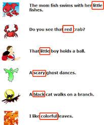 first grade english worksheets adjectives words worksheet