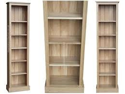 Narrow Bookcases Uk by 6ft Tall Solid Oak Narrow Slim Jim Bookcase