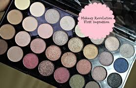 first impression makeup revolution ultra 32 shade eyeshadow