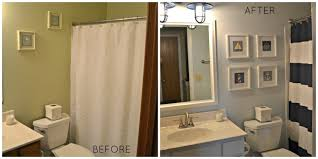 Navy And White Striped Shower Curtain Nautical Bathroom Makeover The Cards We Drew