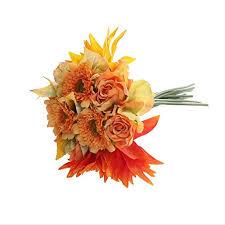 bouquet arrangements miracliy 1 bunch artificial flowers orange silk
