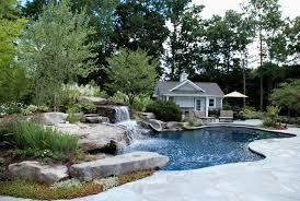 backyard swimming pools waterfalls u0026 natural landscaping nj