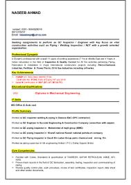 Core Qualifications List Qc Welding Inspector