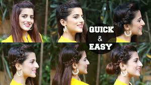 6 quick u0026 easy indian hairstyles for medium to long hair perfect
