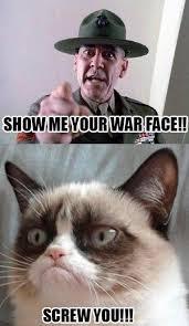 War Face Meme - sarah logan on twitter let me see your war face riottsquad