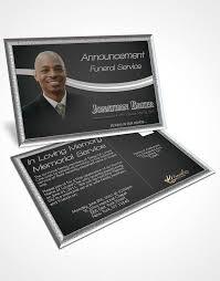 bifold order of service obituary template brochure elegant black