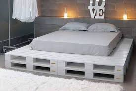 King Size Bed Frame Diy 1001pallets Two Toned Pallet King Size Bed Frame 2 600x819 Diy