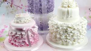 how to make beautiful ruffles u0026 frills on a cake youtube