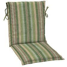Outdoor Sling Chairs Shop Allen Roth Stripe Green Stripe Standard Patio Chair Cushion