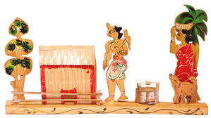 showpiece of a village scene handmade in bamboo rustic look decorative showpiece of a village scene handmade in bamboo rustic look interior decorating items exclusive bamboo craftworks home