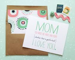 Homemade Mothers Day Cards by Mom Made Me Mothers Day Card Mother U0027s U0026 Father U0027s Day Gift Ideas