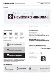 identity guidelines for keyboard kahuna logo design