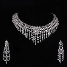 diamond jewelry necklace images Wedding favors bridal diamond jewellery necklace perfect amuzing jpg
