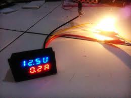 Jual Dc jual dual led digital dc 0v 100v 10a voltmeter ammeter volt meter