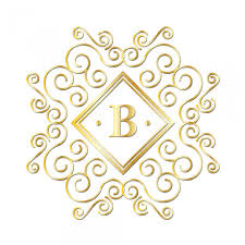 gold monogram letter b gold monogram free stock photo domain pictures