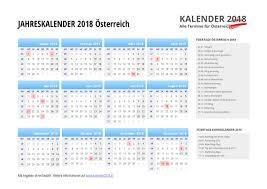 Kalender 2018 Für österreich Kalender 2018 österreich Feiertage Ferien Kw