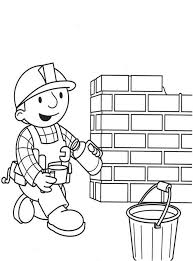 bob builder coloring pages kids teaching bobs