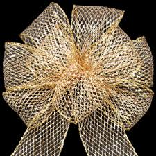 bows outdoor bows wired outdoor mesh gold bow 10 inch