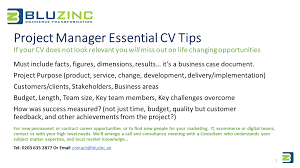 cv tips project manager essential cv tips