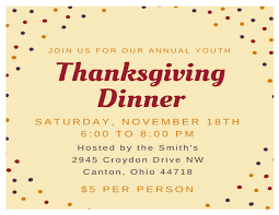 youth thanksgiving dinner nov 18 2017 the apostolics of canton