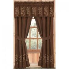 Hunter Green Kitchen Curtains by Cabin Decor Rustic Curtains The Cabin Shop