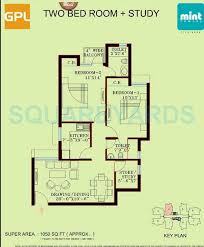 mint floor plans 2 bhk 1050 sq ft apartment for sale in gpl mint tower at rs