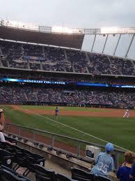 Kauffman Stadium Map Kauffman Stadium Section 144 Row H Seat 6 Kansas City Royals