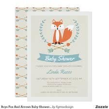 boys fox and arrows baby shower invitation baby shower ideas
