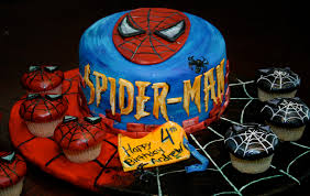 Halloween Cake Supplies Spiderman Cake Decorations Meknun Com
