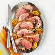kale feta u0026 olive stuffed leg of lamb recipe eatingwell