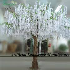 artificial indoor plants white tree artificial wisteria flower