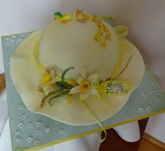 Easter Bonnet Decorating Contest by Making An Easter Bonnet Cake Cakecentral Com
