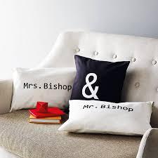 pillow covers for sofa personalised u0027mr u0026 mrs u0027 cushion cover set by minna u0027s room