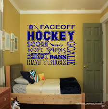 hockey collage wall decal sports wall decals hockey wall zoom