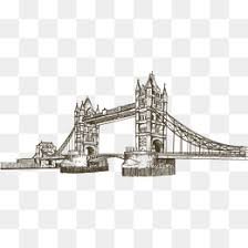 london bridge creative lovely characteristic png and vector for