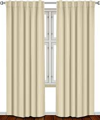 84 Inch Curtains Thermal Insulated Blackout Curtains Beige 2 Panels