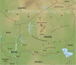 Africa Physical Map by Niger Physical Map