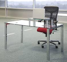 Rectangular Office Desk Looking Glass Desks For Office 34 L Desk Medium Image Depot