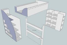 bed designs plans a nother geekdad builds a cabin bed wired