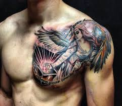 50 best and awesome chest tattoos for