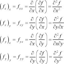higher order partial derivatives